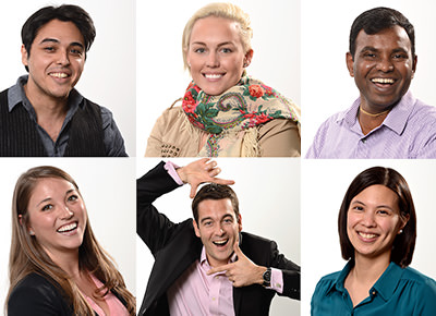 Bel employee headshot collage