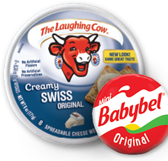 The Laughing Cow & Mini Babybel cheeses