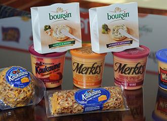 Merkts, Boursin, & Kaukauna cheeses