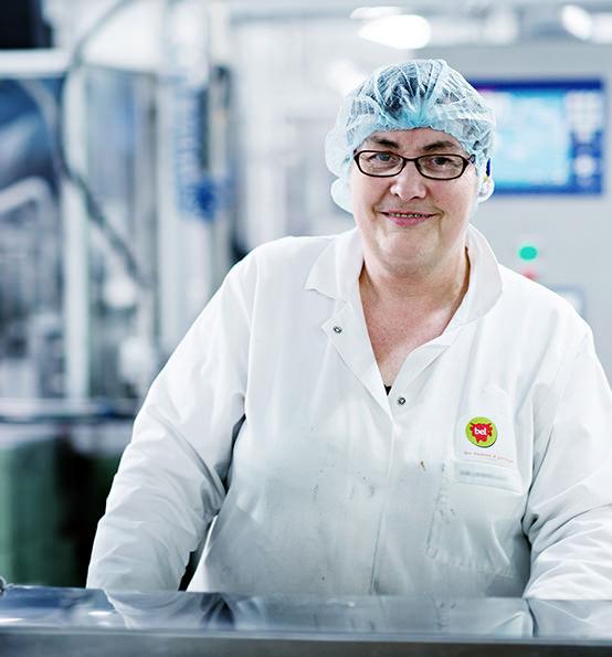Bel employee in plant